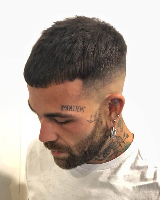 Low Bald Fade with Short Cropped Hair
