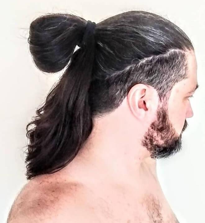 Low Fade Samurai Hairstyle