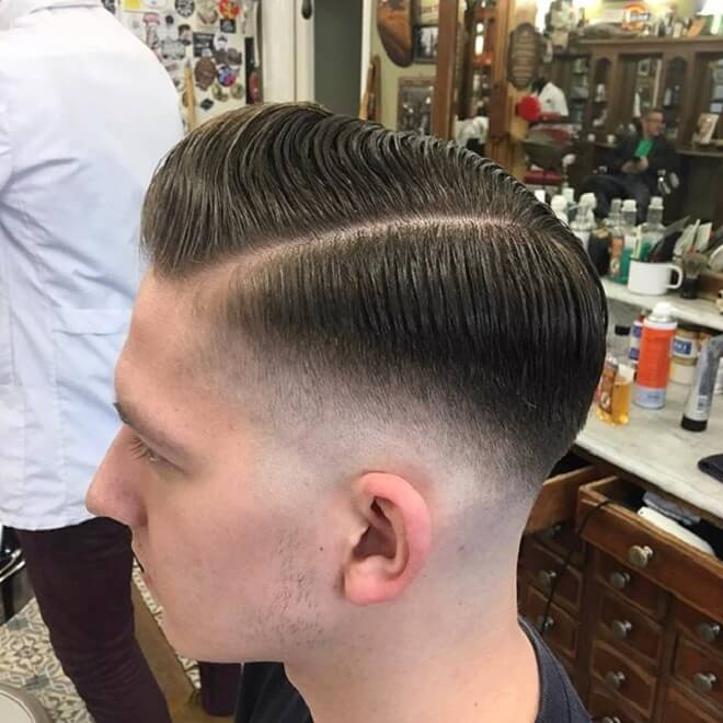Low Fade With Pomp