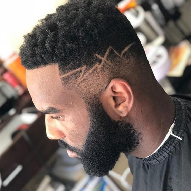 Low Fade With Side Design