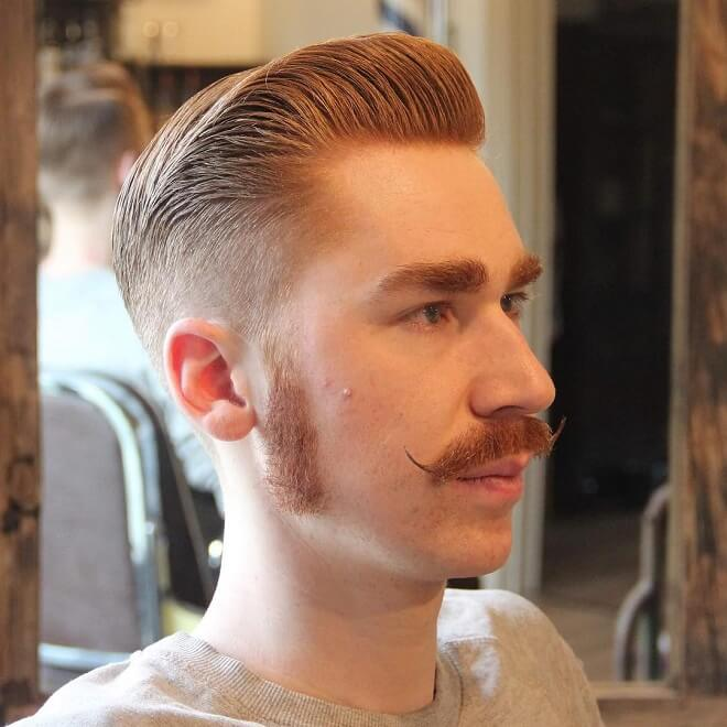 Low Fade With Sideburns