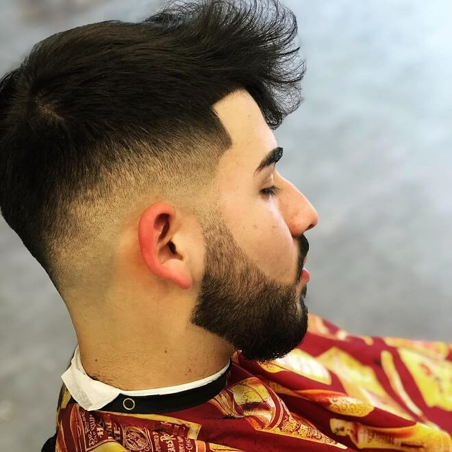 Low Fade with Beard Style