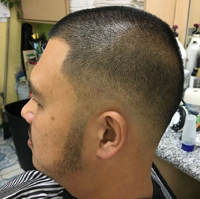 Low Fade with Buzz Cut