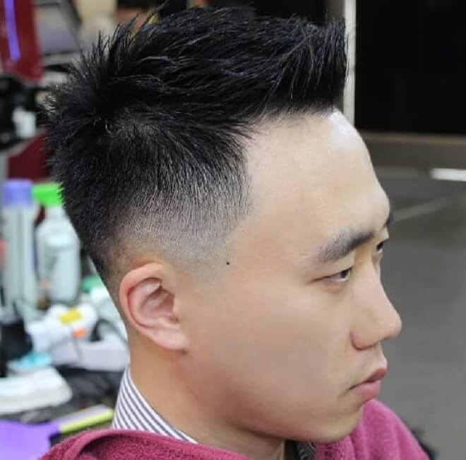 Low Fade with Front Spiky