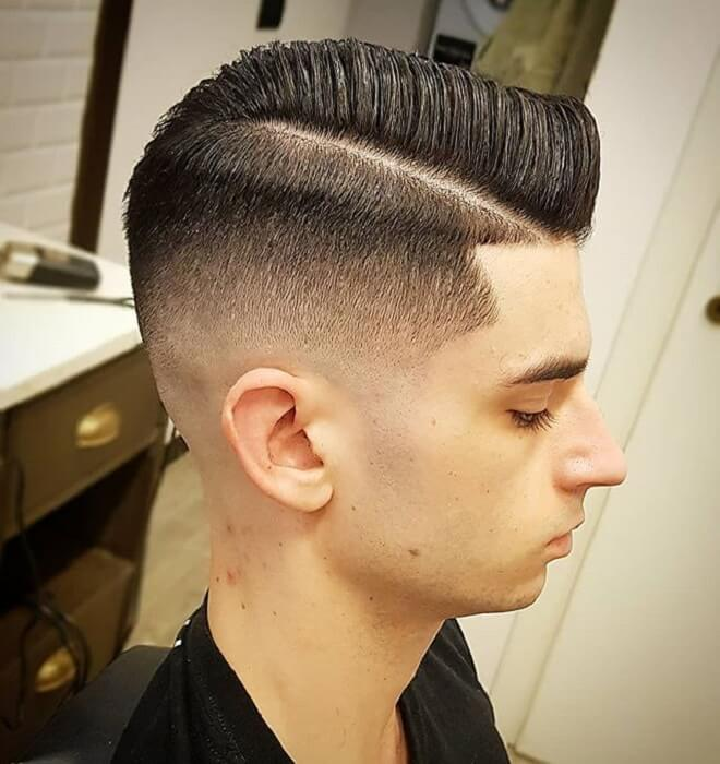 Low Razor Fade with Comb Over