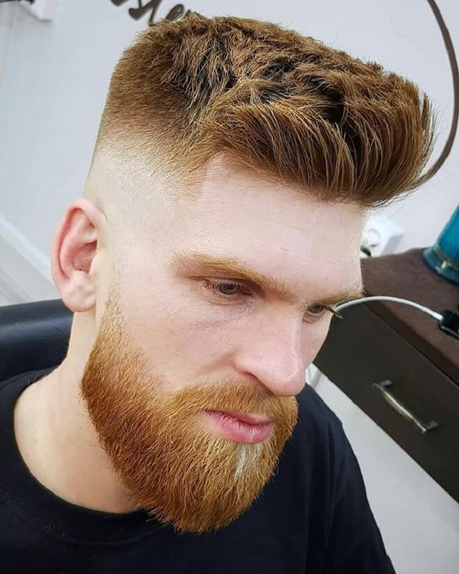 Low Skin Fade With Brushed Up