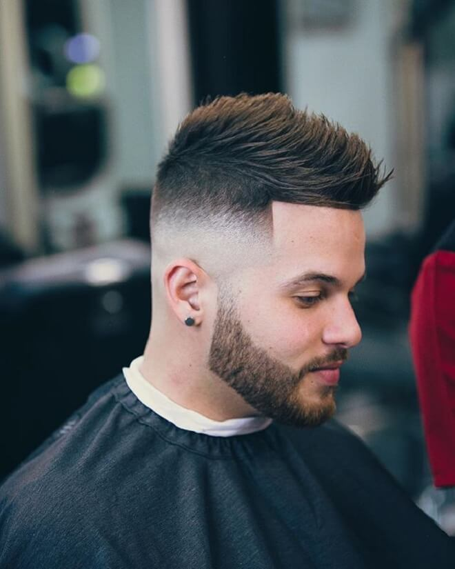 Low Skin Fade with Fohawk Hairstyle