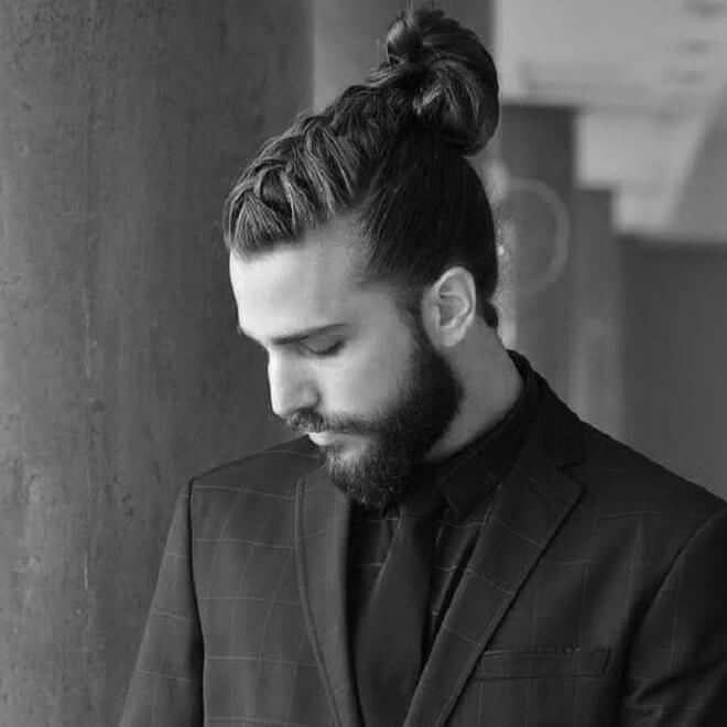 Man Bun With Braid Style