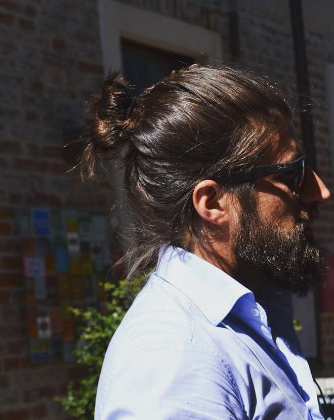 Man Bun and Beard Style