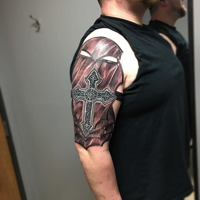 Mask with Cross Tattoo