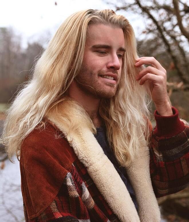 Men Blonde Hair With Beard