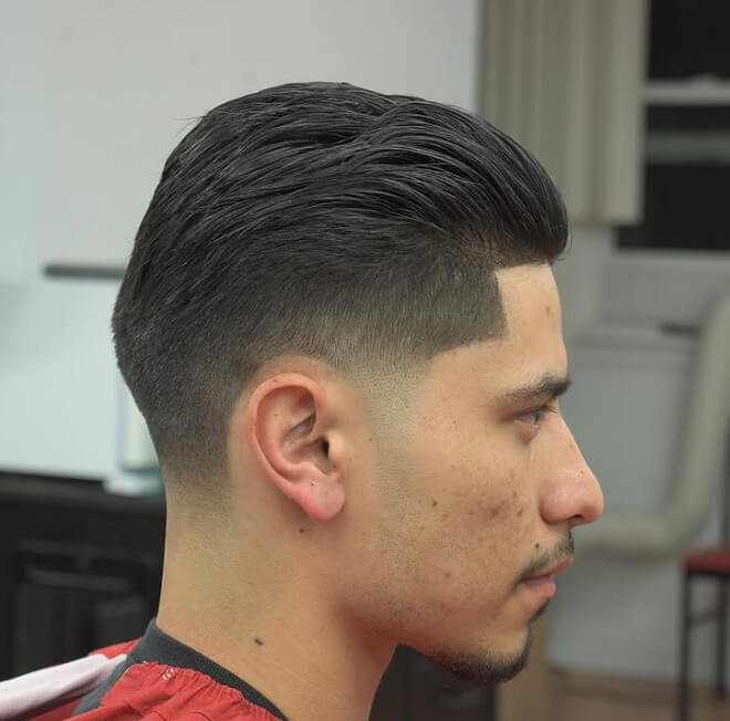 Men's Haircut With Pompadour Fade
