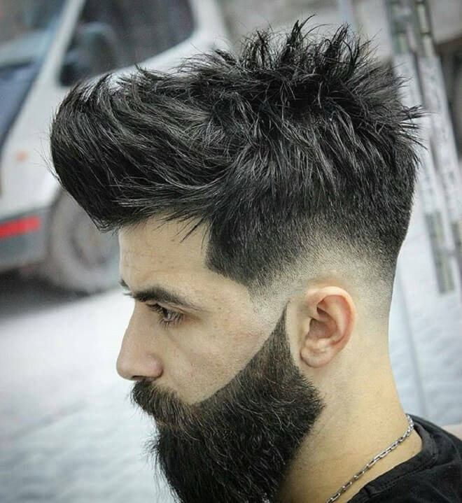 Messy Hair With Drop Fade