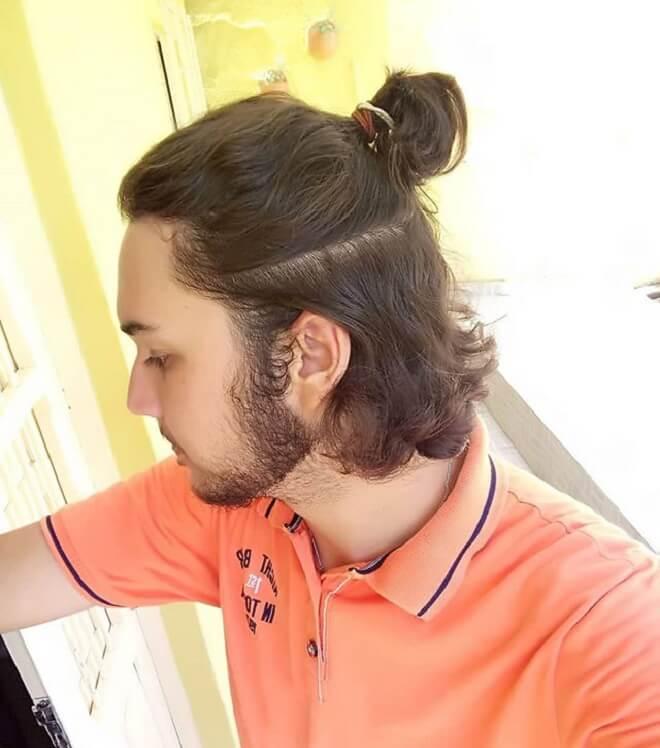 Mid-Lenght Hair With Man Bun