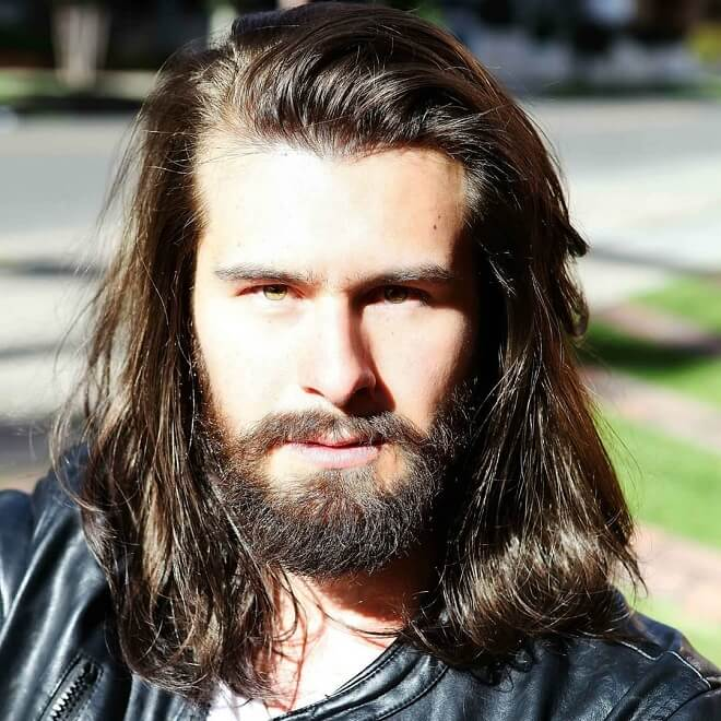 Mid Length Hair With Winter Beard