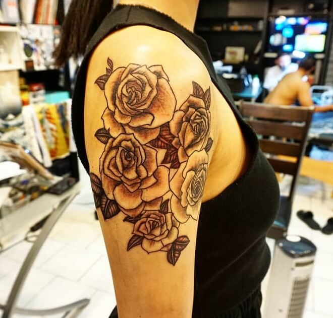 Top 30 Cool Rose Tattoos For Men And Women Awesome Rose Tattoos