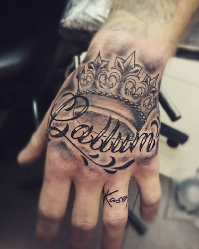 Name Hand Tattoo
