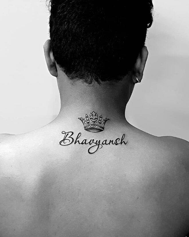 Name Tattoo on Back