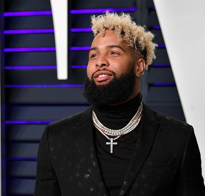 Odell Beckham Jr Platinum Blonde Hair