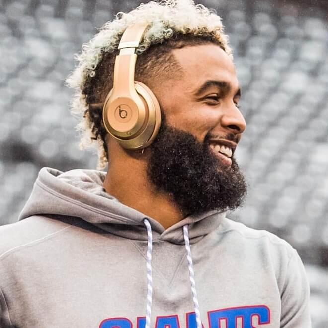 Odell Beckham Mohawk with Beard Style