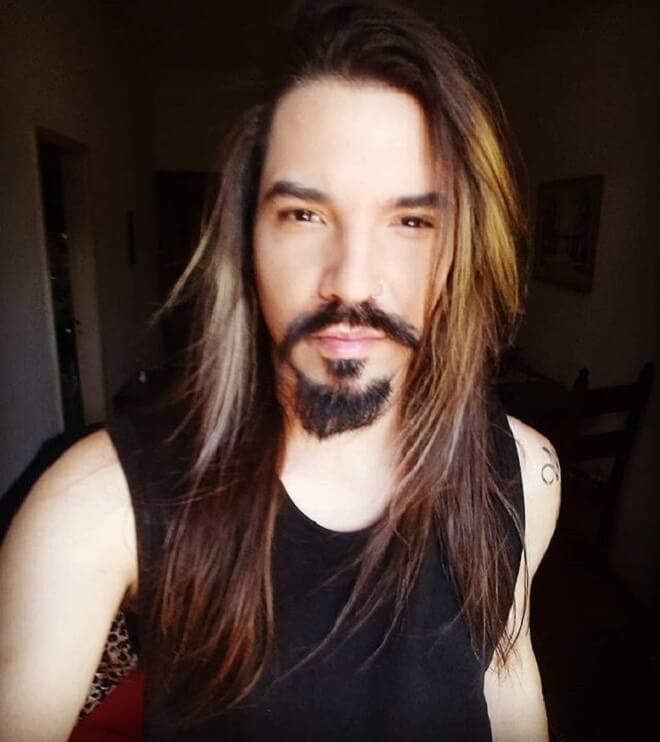 Ombre Hair With Van Dyke Beard