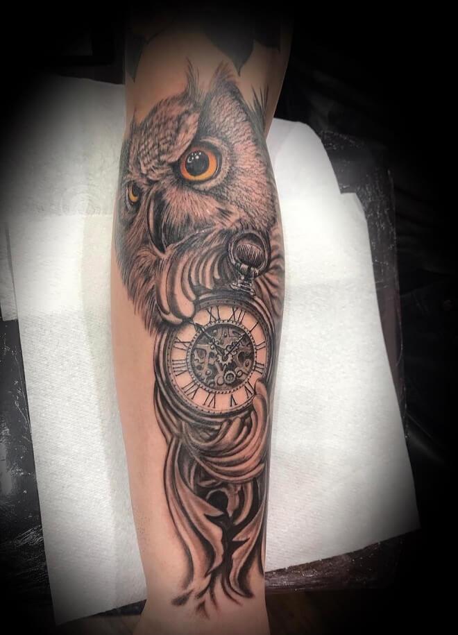 Owl Realistic Tattoo