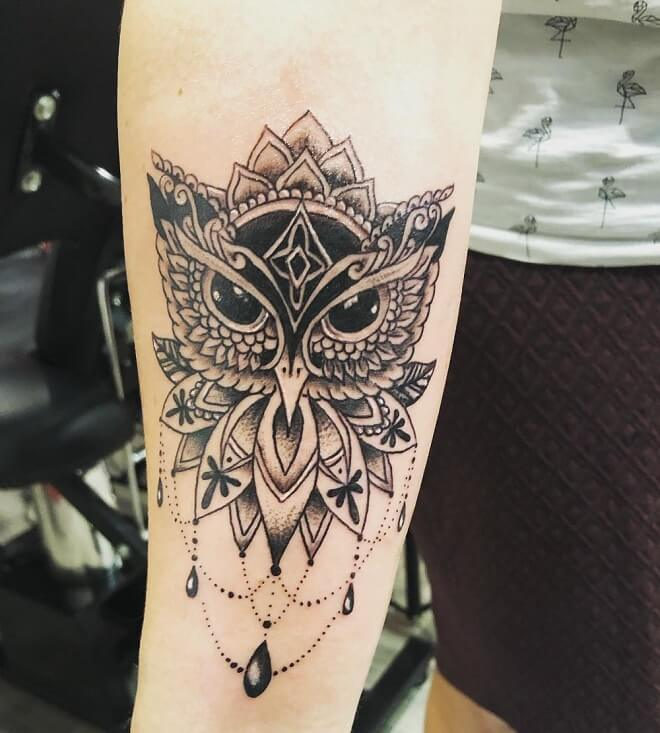 Owl Tattoo for Women