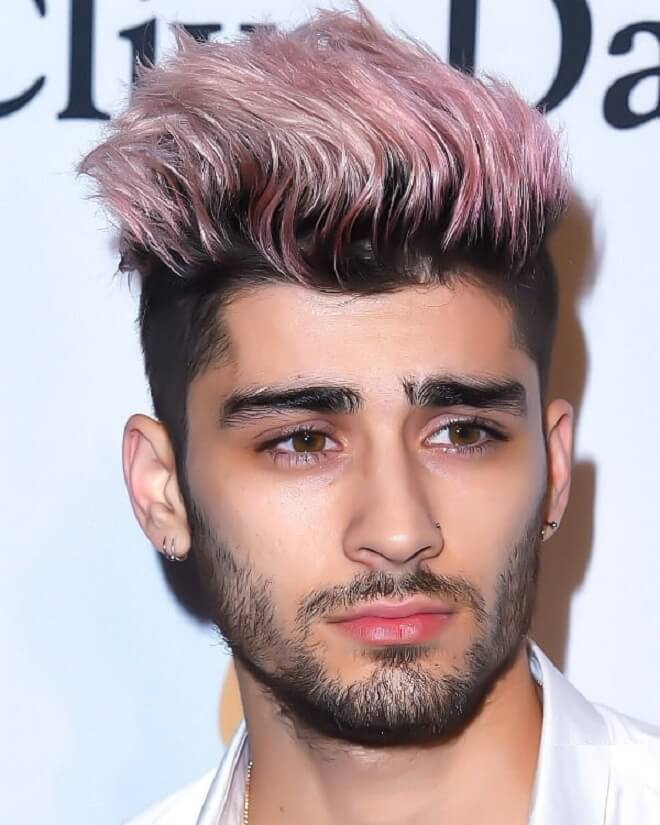 Pink Color Hairstyle