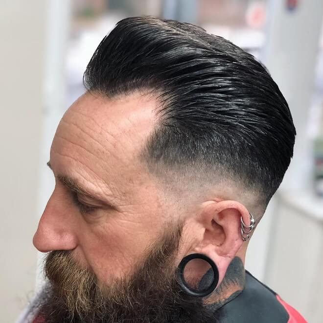 Pompadour Fade With Low Fade