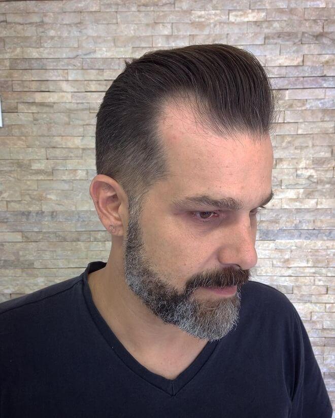 Pompadour Fade for Thin Hair