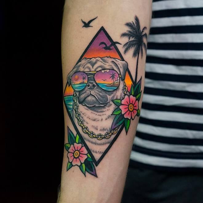 Pug Tattoo