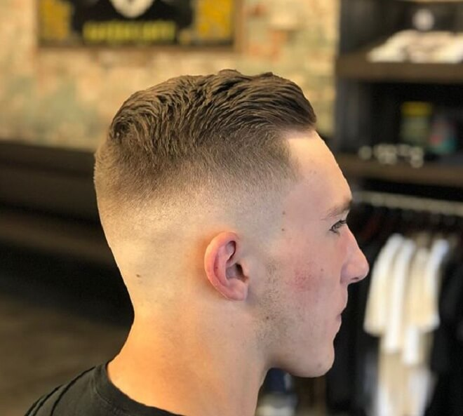 Razor Fade with Short Haircut