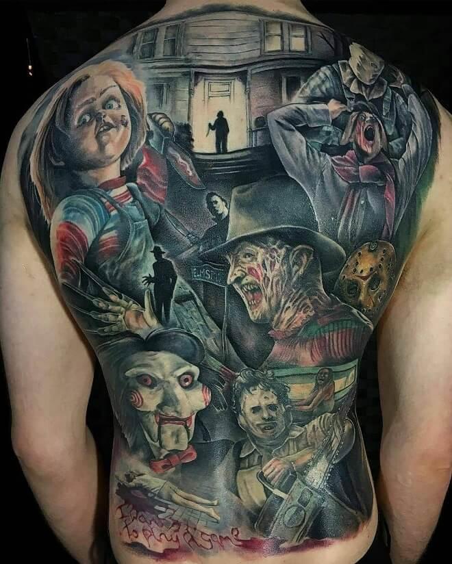 Realism Tattoo on Back
