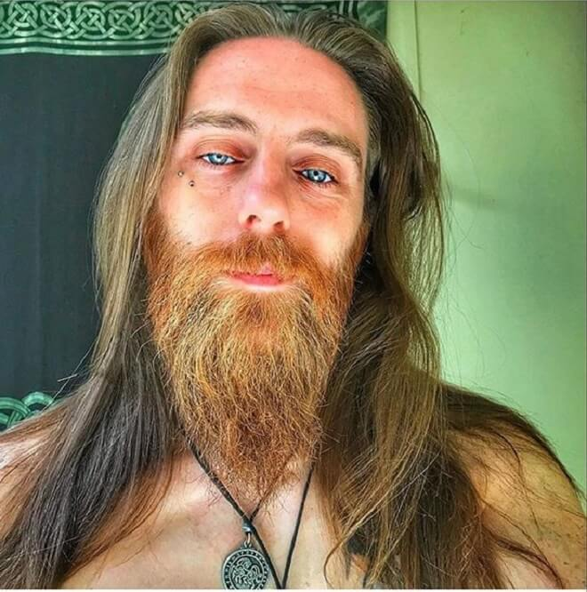 Red Beard with Long Hairstyle
