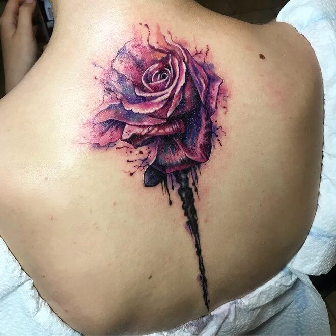 Rose Color Tattoo