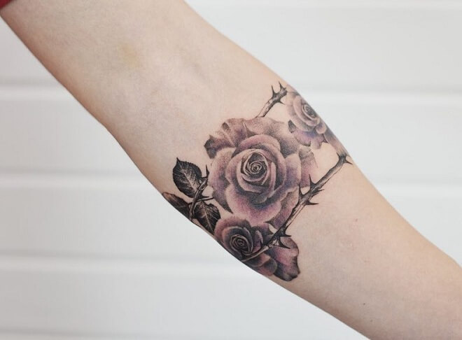 Rose with Thorn Tattoo