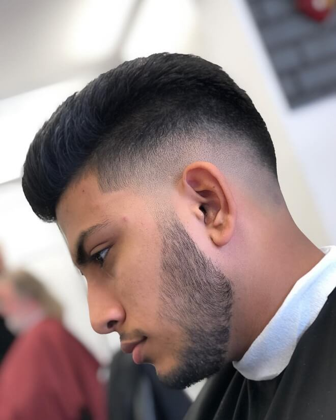 Sharp Fade with Beard Style