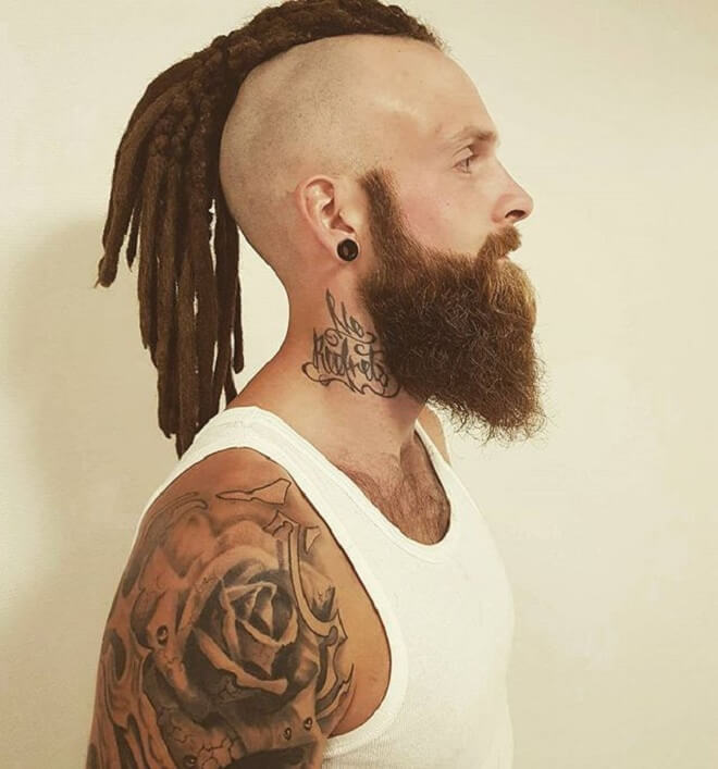 Shaved Side With Dread Style