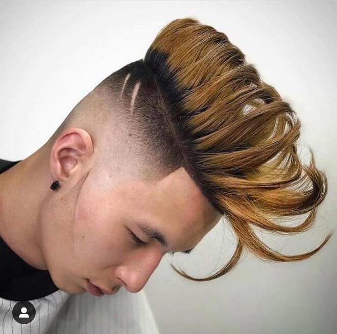 Shaved Side With High Top