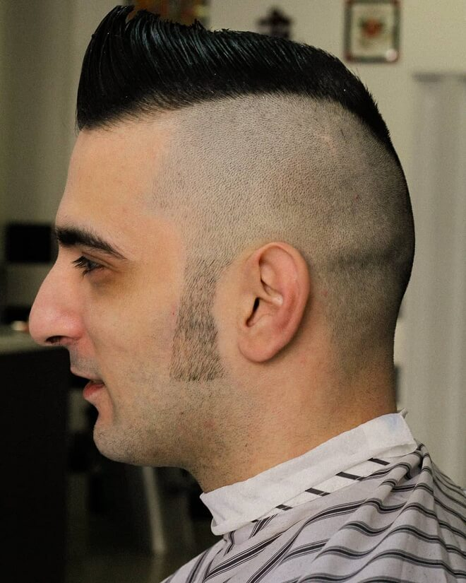 Shaved Side with Sideburn