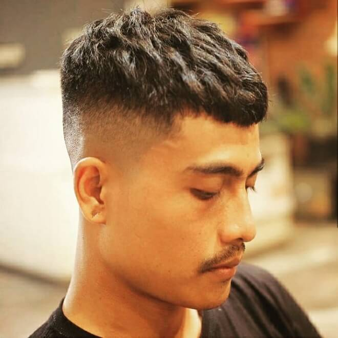 Short Crop With Razor Fade