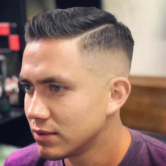 Short Pomp With Low Skin Fade