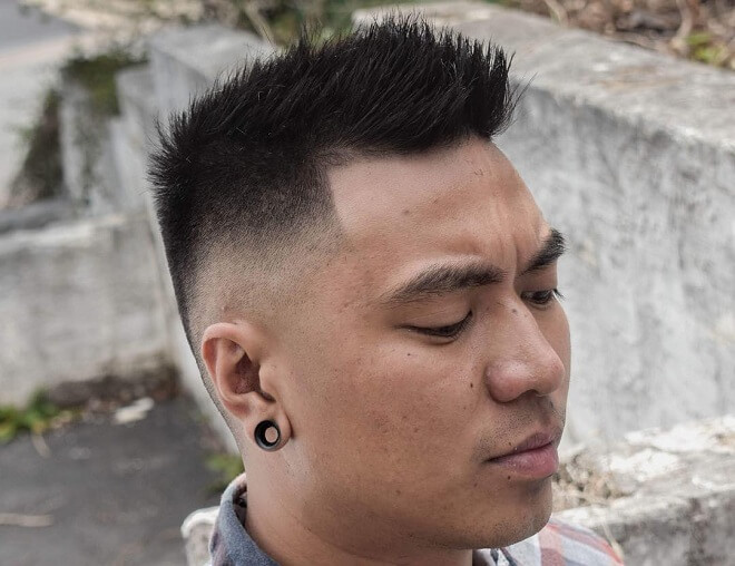 Short Spiky Haircut with Skin Fade