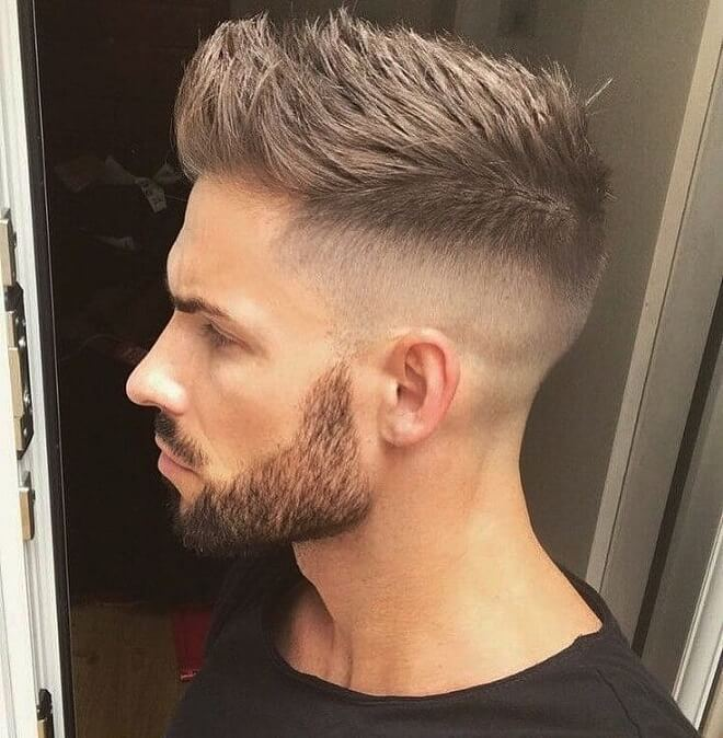 Skin Fade With Spiky Quiff