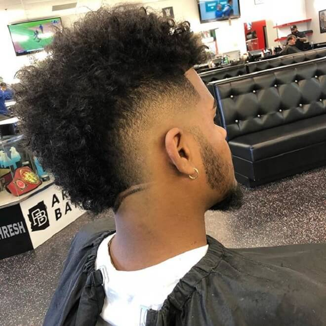 Skin Fade with Mohawk Hairstyle