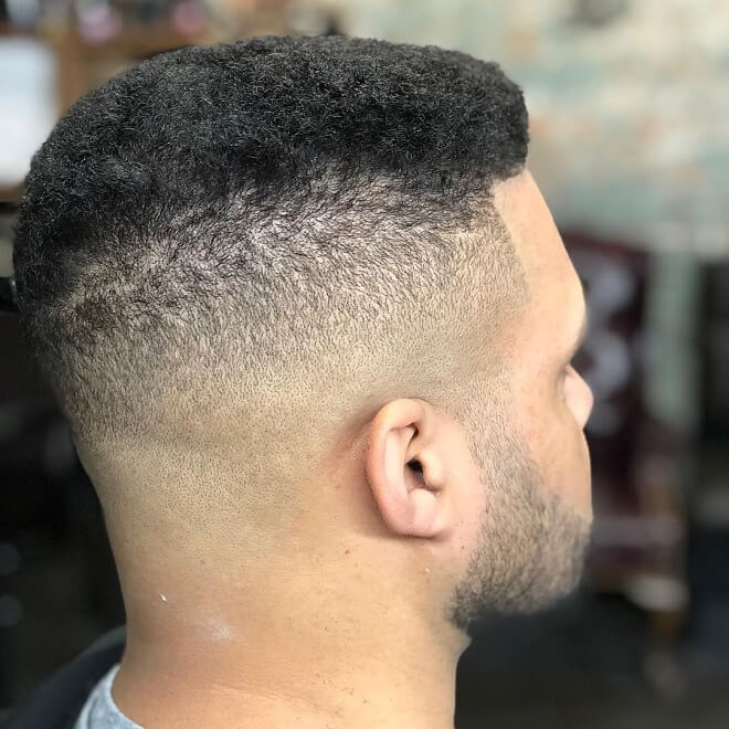 Skin Fade with Short Afro