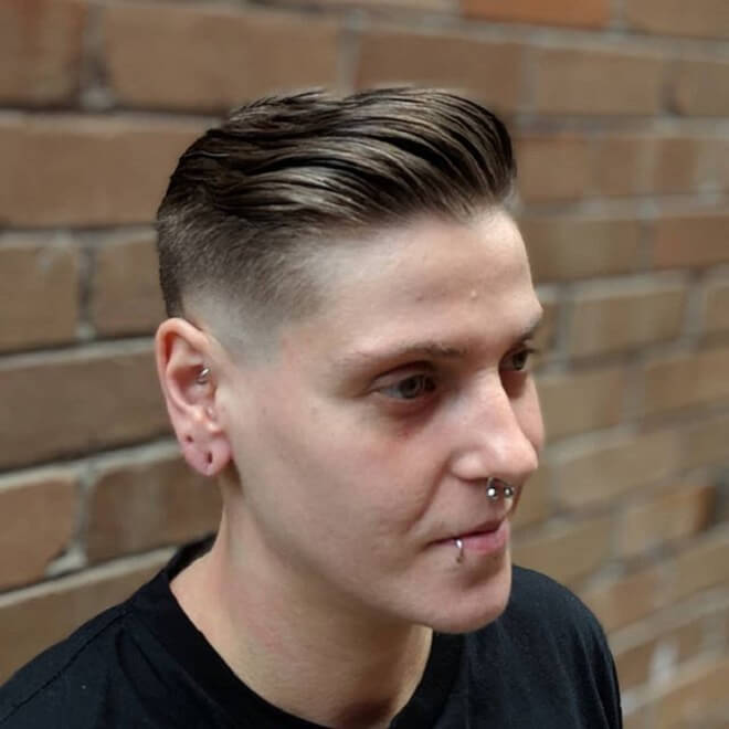 Skin Taper Fade with Silk Back