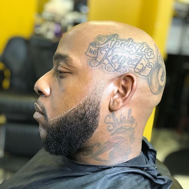 Stubble Beard With Bald Head