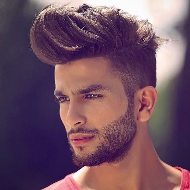 Taper Side with Long Quiff Hairstyle