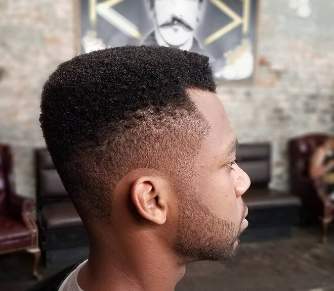 Taper Side with Short Afro